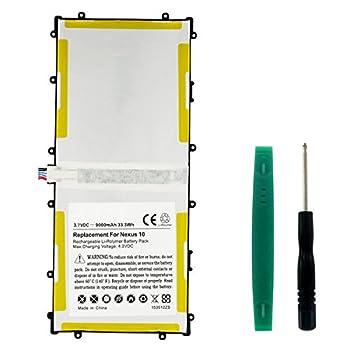 Synergy Digital Tablet Battery Works with Samsung NEXUS 10 32GB Tablet  Li-Pol 3.7V 9000 mAh  Ultra Hi-Capacity Battery