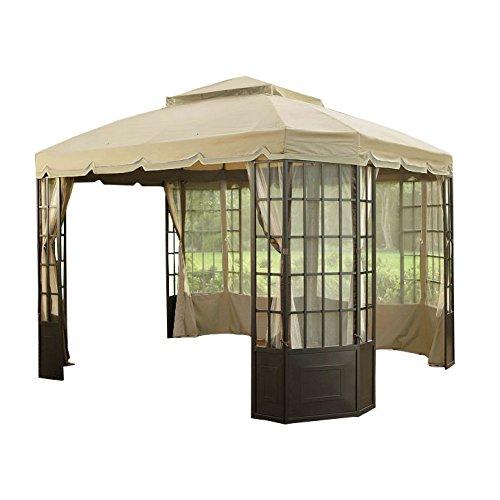 Garden Winds Replacement Canopy Top Cover for Sears Bay Window Gazebo - Riplock 350 - Beige