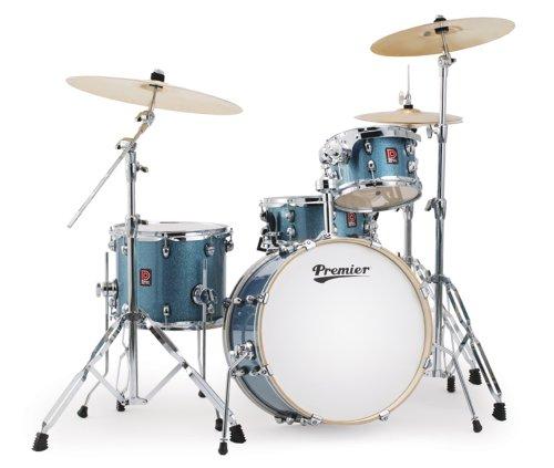 Premier Drums APK 6429961CBW Heritage Birch Series Schlagzeug-Set, 4-teilig, Cosmic Blue Sparkle