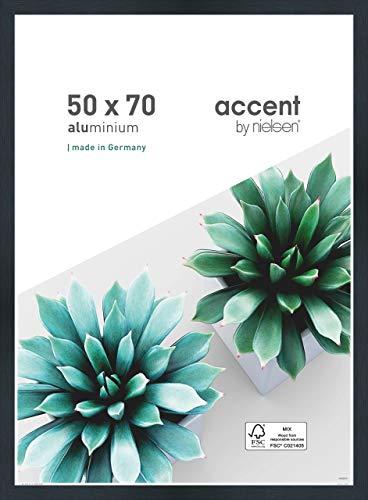 Nielsen Accent Aluminium Bilderrahmen Star, 50x70 cm, Struktur Schwarz Matt