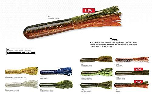 "Yum Lures YT409 Tube Fishing Bait, Watermelon Seed, 4"""