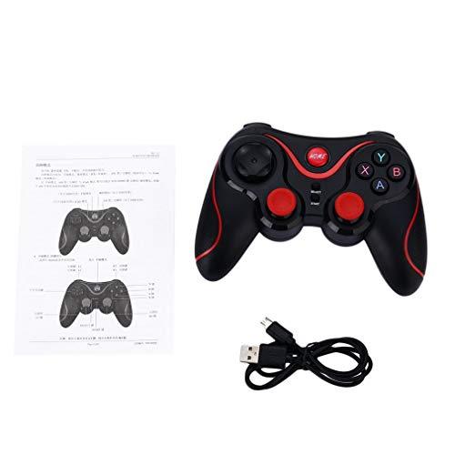 Gamepad Joystick inalámbrico Joypad Controlador de Juegos Control Remoto para Tableta PC para teléfono Inteligente con Sistema Android (Negro)