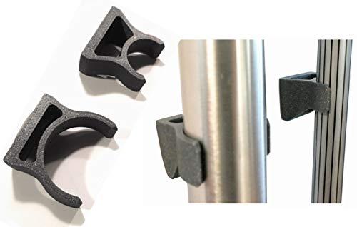 Enhanc3d Designs Soporte para Tubo de aspiradora y Escoba. Sujeción a la Pared.