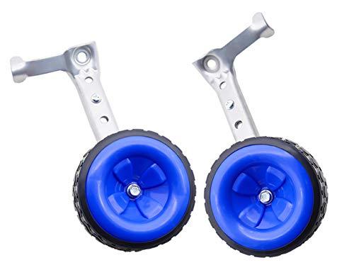 Moshay, rotola sopra l immagine per ingrandire le ruote di allenamento della bicicletta, adatto per bici da bambini da 16 a 18 20 22 da 24 pollici (blu)