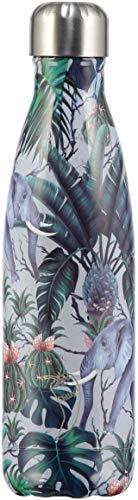 Chillys Tropical Elepahant Botella de Agua, Multicolor