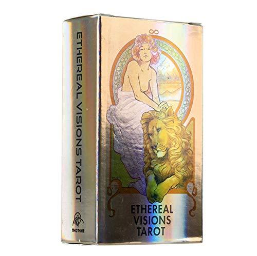 GWQDJ Laser Ätherische Visionen Tarot, Brettspielkarte, Weissagung Fortune Telling Game Tarot Decks Für Family Friends Party