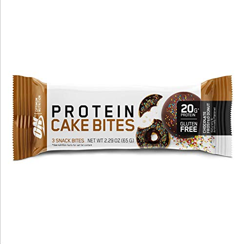 Optimum Nutrition Optimum Nutrition Protein Cake Bites/Whipped Protein Bars, Chocolate Frosted Donut (12 Count of 2.22 oz Bars), 26.94 oz
