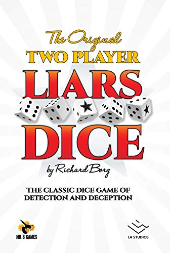 Mr. B Games Liars Dice 2 Player Edition Board Game