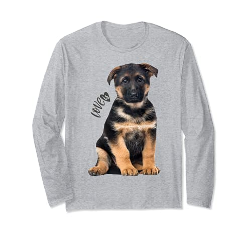 Camiseta de pastor alemán Shepard Dog Mom Dad Love Pet Puppy Tee Manga Larga