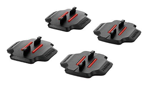 TomTom Supporti Adesivi Piani e Curvi per Bandit Action Camera, Nero/Rosso