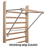 Klimmzugstange für Sprossenwand Reckstange Klimmzug Bauchtrainer Turnstange 90cm