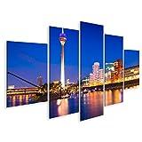 Bild Bilder auf Leinwand Bunte Nachtszene des Rheins bei
