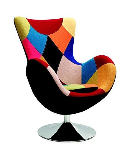 CARELLIA Fauteuil Patchwork - Multicolore