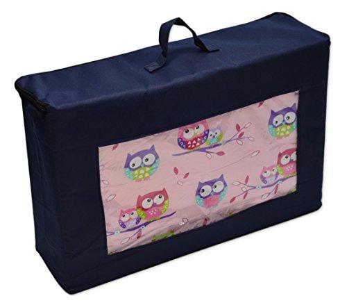 Best For Kids Matratze für das Reisebett 120 x 60 x 6 cm inkl.Transporttasche mit TÜV Kinder-Rollmatratze Kindermatratze in 4 Farben, Reisebettmatratze mit Tragetasche (Rosa)