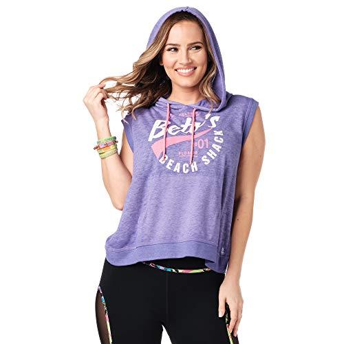 Zumba Purple Pop L - Sudadera sin mangas para mujer