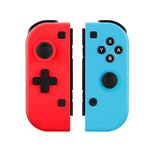 TUTUO Manette pour Switch, Switch Pro sans Fil Contrôleur, Rouge (R) et Bleu (L) Bluetooth Gamepad, Remplacement Joystick pour Switch