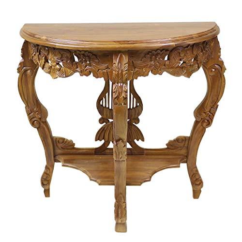 Oriental Galerie Konsolentisch Konsole Barock Wandtisch Telefontisch Antik Tischkonsole Highboard Schminktisch Holz Braun 80 cm