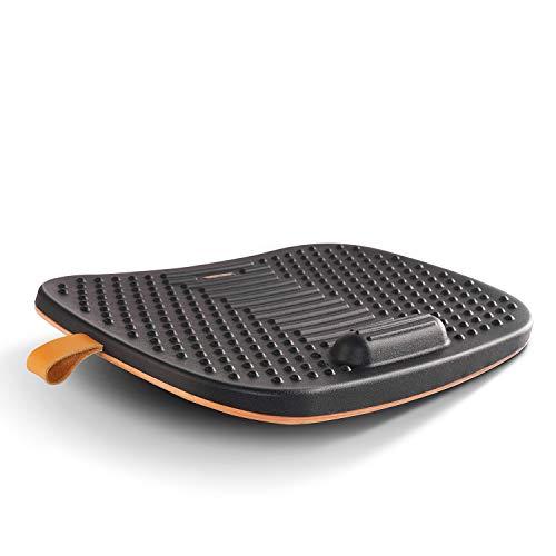 FEZIBO Tapis de bureau debout avec barre anti-fatigue, planche d'équilibre en bois avec design ergonomique et confort (deuxième génération)
