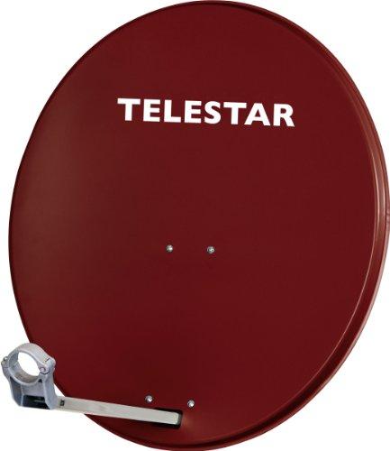 Telestar 5109721-AR Digirapid 80 Satelliten Anlage (80 cm Aluminium-Spiegel, vormontierte Masthalterung, 40mm LNB-Halterung) ziegelrot