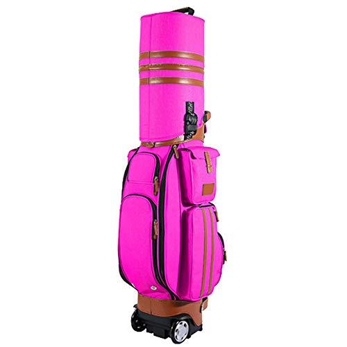 Susulv-LCO Golf Travel Cover- Golf Reisetasche Hochwertige wasserdichte PU Golf Multifunktionsbeutel Luftfahrtbeutel Mit Rädern, Passwortsperre Für Männer Frauen, Golfreisetasche