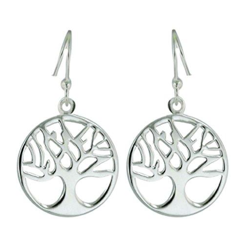 Sterling Silver Tree of Life Dangle Earrings