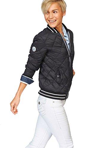 KangaROOS Damen Jacke Steppjacke College Style (Schwarz, 36)