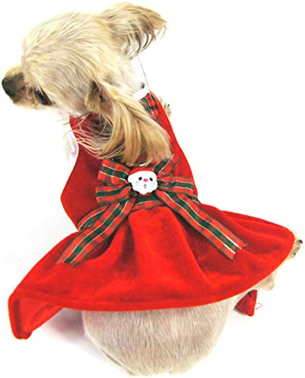 Shangyuan Pet Christmas Style Dress Red Knitted Cotton Multiple Sizes Durable Easy to Clean Pet Breathable Vest Dress