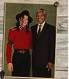 MXIBUN Nelson Mandela Poster Kraftpapier Poster Familie