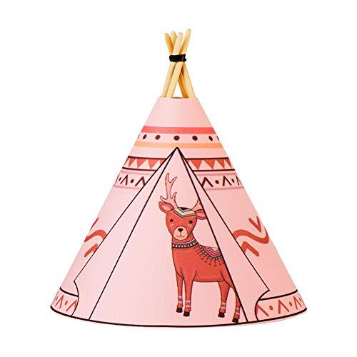 Pauleen Deer 48029 Twinkle Tipi tafellamp batterijvoeding tafellamp LED kinderkamerlamp roze rendier stof/hout