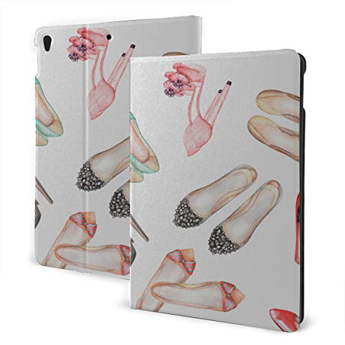 Ipad Kids Cover 2019 Ipad Air3/2017 Ipad Pro 10.5 Inch Case/2019 Ipad 7th 10.2 Inch Case Women Shoes Series With Floral Decorative Floral Beauty Retro Art Ipad Case Protective Auto Wake/sleep
