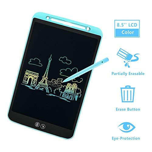 IDEASY Aggiorna Tavoletta LCD da 8,5 Pollici, Funzioni di Cancellazione Parziale e Completa, Scrittoio LCD Colorato per Bambini, Adatto a Scuola, Casa e Ufficio (Blu)