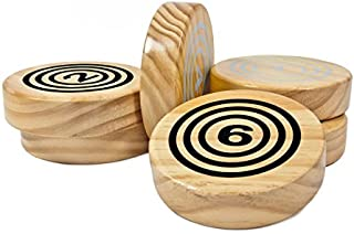 Rollors Backyard Game Expansion Pack (Disks Only) - Fun for All Ages and Families -Tailgating, Camping, Parties, BBQs, Picnics - All-in-One Wooden Yard Game Combining Horseshoes, Bocce, Bowling