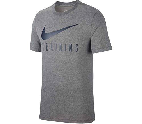 Nike Herren Dri-Fit Unterhemd, Holzkohle meliert/Obsidian, L/T