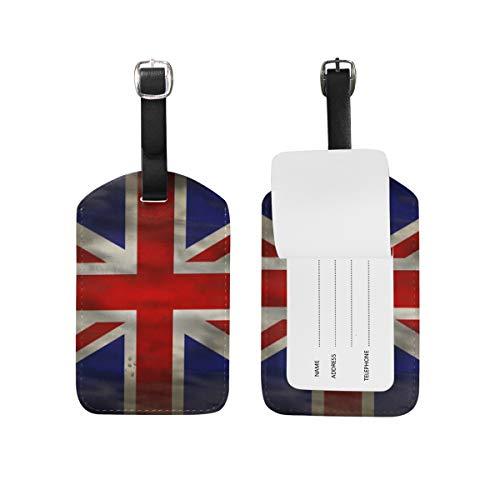 LORONA Grunge Union Jack Gran Bretaña Inglaterra Etiquetas de equipaje Cuerdas Etiqueta de identificación de viaje para maleta Equipaje de mano, 1 unidad'