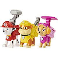 3-Pack Paw Patrol, Action Pack Pups Marshall, Skye and Rubble Collectible Figures with Sounds and Phrases