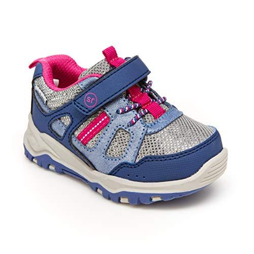 Stride Rite 360 Girls Artin 2.0 Athletic Running Shoe, Blue/Pink, 13 Little Kid