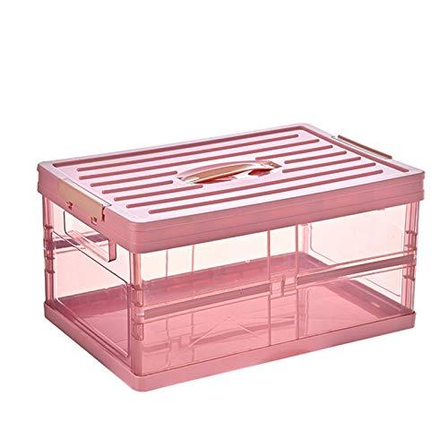 TaoHaoHuo Caja de almacenamiento plegable para coche, caja de almacenamiento de plástico duradera, para la oficina en el dormitorio del coche
