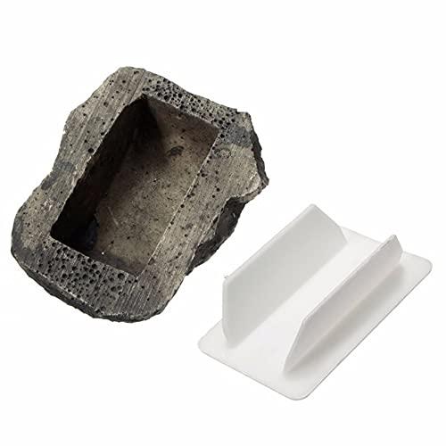 Jiaojie Hide-A-Spare-Key - Soporte para llaves de piedra de simulación a prueba de intemperie para exteriores