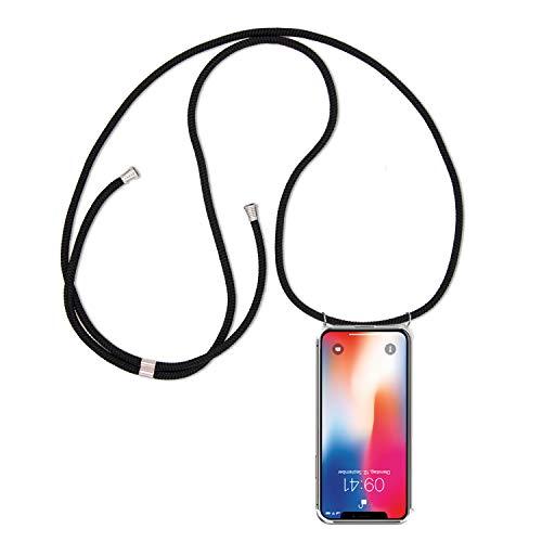 ff-mobile Handykette kompatibel mit Samsung Galaxy S7 Edge Smartphone Necklace Hülle mit Band - Schnur mit Case zum umhängen in Schwarz