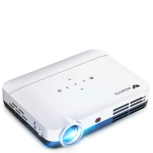 WOWOTO H9 Projector 4000 Lumens Mini Projector LED DLP 1280x800 Real Home Theater Video Projector Wireless Screen Share Support 1080P 3D to 2D HDMI 176