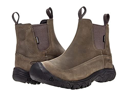 KEEN Men's Anchorage 3 Pull On Waterproof Boot Hiking, Steel Grey/Black, 11