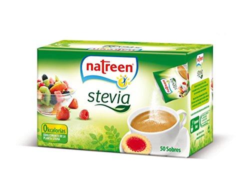 Natreen, Süßstoff in Pulverform mit Stevia, 50 Päckchen