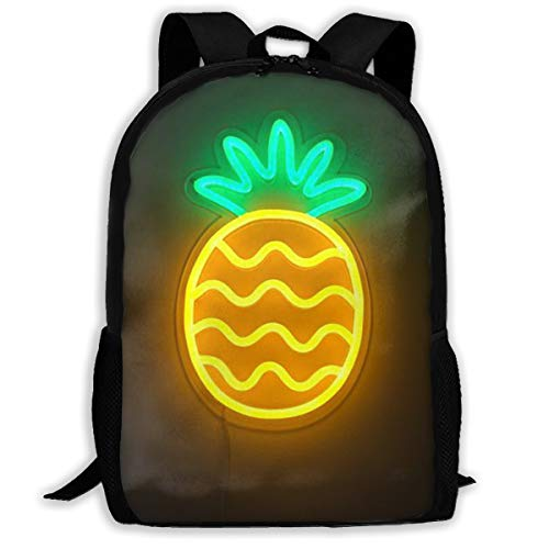 Oswz LED The Pineapple Travel Backpack Insulated Soft Lunch Cooler for Men Women, Best for Picnic, Hiking, Travel, Beach, Sports, Work