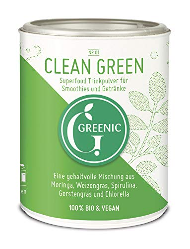 Greenic Green Detox Superfood Trinkpulver Mischung, 1er Pack
