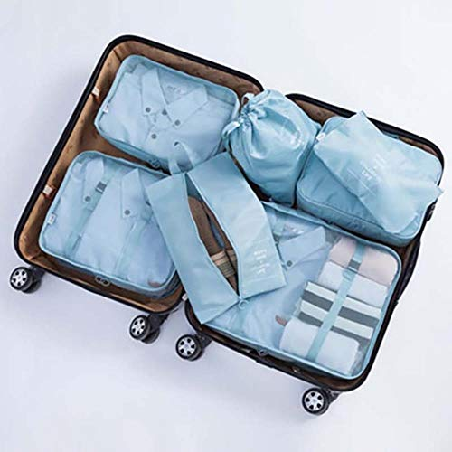 Uhjg Large Capacity Travel Storage Bag Storage Bag Set Clothes Storage Bag Travel Bag Luggage Home Closet Storage Bag,1