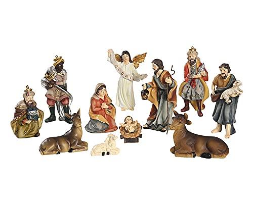 Niño Jesús Nacimientos de Navidad Artículos Religiosos Natividad Adornos Juego de 11 Figuritas del Belén Navidad Decorativa Resina Figura Casa Decorativo Accesorios Regalo Festival