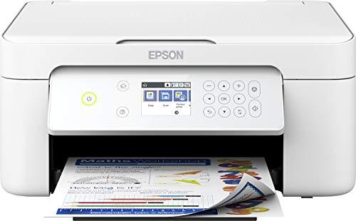 Epson Expression Home XP-4105 - Impresora multifunción 3 en 1 (escáner, fotocopiadora, Wi-Fi, Cartuchos Individuales, dúplex, Pantalla de 6,1 cm), Color Blanco