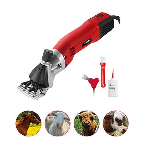 Draagbare schaapschaap, 6 snelheden, 13 tanden, professionele elektrische tondeuse voor het bereiden van dieren, voor alpaca's en grote dieren met dikke vacht