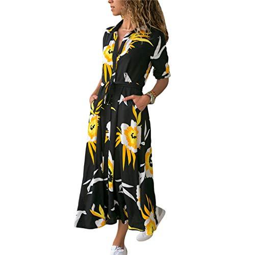 Damen Kleider Sommer V Ausschnitt Langärmelig Weste Sexy Strandkleid Jeanskleid Kleid Große Größe Kleid Polyester Bedruckt Spitzenkleid Mit Hoher Taille
