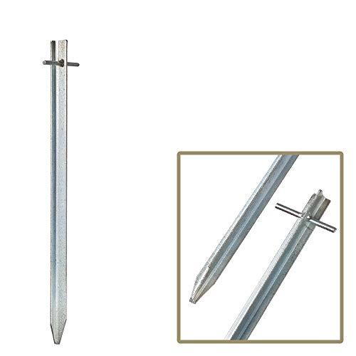 IGEL T-Eisen-Hering 40cm verzinkt 4/12 / 25 / 50er Sets (12 Stück)